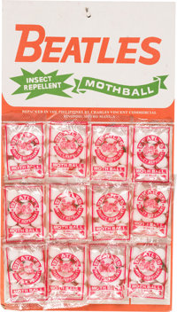 The Beatles Mothballs With Full Display Card (Philippines, circa mid-1960s)
