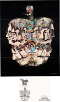 """Music Memorabilia:Posters, The Beatles Fan Club """"The Apple Tree Poster"""" with Shipping Envelope (1971).. ..."""