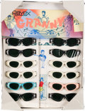 Music Memorabilia:Memorabilia, The Beatles Sunglasses Fold Out Counter Display Complete with (12) Pair of Granny Glasses (Rayex Corp 1964). . ...
