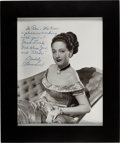 Movie/TV Memorabilia:Autographs and Signed Items, Dorothy Lamour Signed and Inscribed Picture. ...