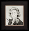 Movie/TV Memorabilia:Autographs and Signed Items, Lauren Bacall Signed Picture. ...