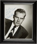 Movie/TV Memorabilia:Autographs and Signed Items, Charlton Heston Signed and Inscribed Photo. ...