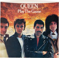 "Music Memorabilia:Autographs and Signed Items, Queen Signed ""Play the Game"" 7-Inch Picture Sleeve (Elektra, E-46652). ..."