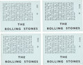 Music Memorabilia:Memorabilia, The Rolling Stones Tower Ballroom New Brighton Four (4) Concert Tickets (UK-1964). . ...