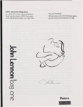 Music Memorabilia:Documents, John Lennon/Bag One Booklet Of Information On Each Lithograph. . ...