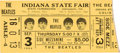 Music Memorabilia:Tickets, The Beatles Indiana State Fair Concert Ticket (1964).. ...