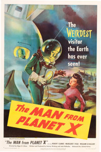 The Man From Planet X Linen-Backed One-Sheet (MGM, 1951)