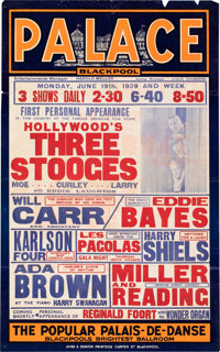 The Three Stooges Blackpool Palace Poster (UK, 1939)