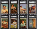 Baseball Cards:Sets, 1953 Bowman Color Baseball Complete Set (160)....