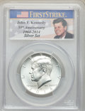 2014-D 50C Silver, 50th Anniversary Set, MS70 PCGS. The lot will also include the following: 2014-S 50C Enhanced-Silve...
