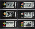 Baseball Cards:Sets, 1971 Topps Greatest Moments Complete Set (55)....
