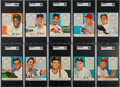 Baseball Cards:Sets, 1952 Red Man Baseball High Grade Complete Set (52). ...