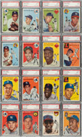 Baseball Cards:Sets, 1954 Topps Baseball PSA Graded Complete Set (250) With No Card Below PSA NM 7....