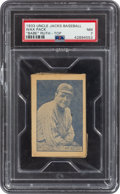 Baseball Cards:Singles (1930-1939), 1933 Uncle Jacks Candy Unopened Pack Babe Ruth PSA NM 7! ...