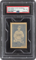 Baseball Cards:Singles (1930-1939), 1933 Uncle Jacks Candy Unopened Pack Gabby Hartnett PSA NM-MT 8. ...