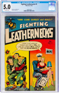 Golden Age (1938-1955):War, Fighting Leathernecks #5 (Toby Publishing, 1952) CGC VG/FN 5.0 Off-white pages....