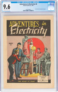 Golden Age (1938-1955):Non-Fiction, Adventures in Electricity #6 (General Comics Inc., 1949) CGC NM+ 9.6 Off-white to white pages....