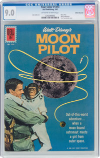Four Color #1313 Moon Pilot - White Mountain Pedigree (Dell, 1962) CGC VF/NM 9.0 Off-white to white pages