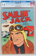 Golden Age (1938-1955):Adventure, Four Color #36 Smilin' Jack - Central Valley Pedigree (Dell, 1944) CGC FN/VF 7.0 Off-white to white pages....