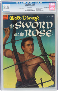 Four Color #505 The Sword and the Rose - White Mountain Pedigree (Dell, 1953) CGC VF+ 8.5 White pages