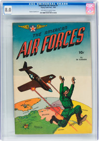 The American Air Forces #1 (Wm. H. Wise & Co., 1944) CGC VF 8.0 Off-white to white pages