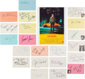 Movie/TV Memorabilia:Autographs and Signed Items, Taxi Driver Cast and Crew Autograph Collection (21) (1976). ...