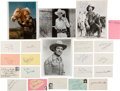 Movie/TV Memorabilia:Autographs and Signed Items, Male Western Stars Autograph Collection (21). ...