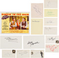 Movie/TV Memorabilia:Autographs and Signed Items, Singin' in the Rain Cast Autograph Collection (13) (1952). ...