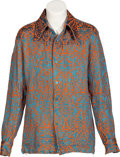 Music Memorabilia:Costumes, Keith Moon/The Who Owned and Worn Brocade Paisley Shirt. ...