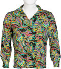 Music Memorabilia:Costumes, Jimi Hendrix Multi-Colored V-Neck Shirt. ...