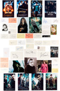 Movie/TV Memorabilia:Autographs and Signed Items, Harry Potter Film Series Autograph Collection (41). ...