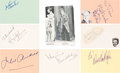 Movie/TV Memorabilia:Autographs and Signed Items, Mary Poppins Cast Autograph Collection (8) (1964). ...