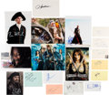 Movie/TV Memorabilia:Autographs and Signed Items, Pirates of the Caribbean Film Series Cast Autograph Collection (18). ...