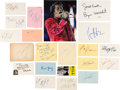 Movie/TV Memorabilia:Autographs and Signed Items, Rocky Film Series Autograph Collection (21)....