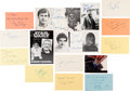 Music Memorabilia:Autographs and Signed Items, Star Wars Film Series Cast and Crew Autograph Collection (15)....