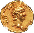 Ancients:Roman Imperial, Ancients: Nero (AD 54-68). AV aureus (18mm, 7.58 gm, 4h). NGC Choice VF 4/5 - 4/5....