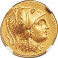 Ancients:Greek, Ancients: MACEDONIAN KINGDOM. Alexander III the Great (336-323 BC). AV stater (19mm, 8.59 gm, 4h). NGC MS★ 5/5 - 4/5....