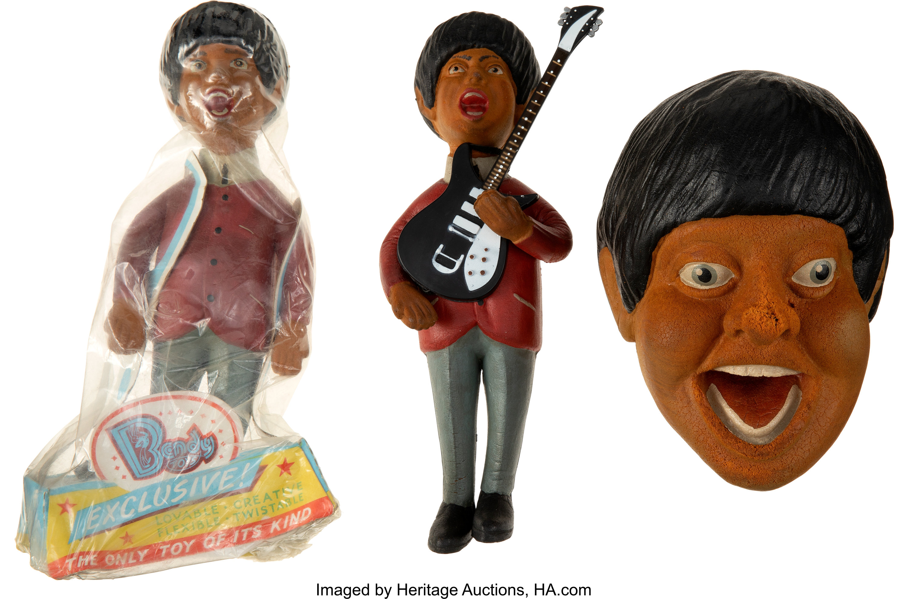 The Beatles Paul Mccartney Bendy Toy In Pkg Paul Out Of Pkg Lot 89779 Heritage Auctions