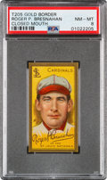 Baseball Cards:Singles (Pre-1930), 1911 T205 Gold Border Roger Bresnahan (Closed Mouth) PSA NM-MT 8 - Pop Three, None Higher....