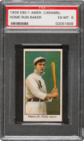 Baseball Cards:Singles (Pre-1930), 1909-11 E90-1 American Caramel Home Run Baker PSA EX-MT 6 - Pop Four, One Higher. ...