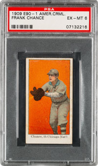 1909-11 E90-1 American Caramel Frank Chance PSA EX-MT 6 – Pop Three, One Higher