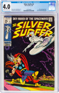 Silver Age (1956-1969):Superhero, The Silver Surfer #4 (Marvel, 1969) CGC VG 4.0 Cream to of...