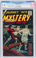 Silver Age (1956-1969):Horror, Journey Into Mystery #43 (Marvel, 1957) CGC FN/VF 7.0 Off-white to white pages....