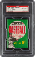 Baseball Cards:Unopened Packs/Display Boxes, 1962 Topps Baseball (4th/5th Series) 5-Card Wax Pack PSA NM-MT 8. ...