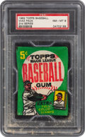 Baseball Cards:Unopened Packs/Display Boxes, 1962 Topps Baseball (2nd Series) 5-Card Wax Pack PSA NM-MT 8. ...