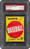 Baseball Cards:Unopened Packs/Display Boxes, 1963 Topps Baseball 5-Cent Wax Pack PSA NM-MT 8. ...