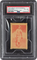 Baseball Cards:Singles (1930-1939), 1933 Uncle Jacks Candy Unopened Pack Burleigh Grimes PSA EX-MT 6. ...