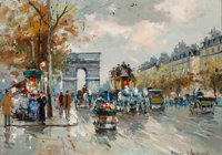 Antoine Blanchard (French, 1910-1988) L'Etoile Oil on canvas 13 x 18-1/4 inches (33.0 x 46.4 cm)<