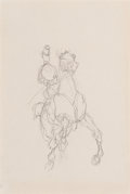Works on Paper, Henri de Toulouse-Lautrec (French, 1864-1901). Amazone. Crayon on paper. 10-1/4 x 6-1/4 inches (26.0 x 15.9 cm). ...