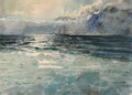 Works on Paper, Marin-Marie (French, 1901-1987). A sailboat along a rocky coast. Watercolor. 22-1/4 x 30 inches (56.5 x 76.2 cm). Signed...